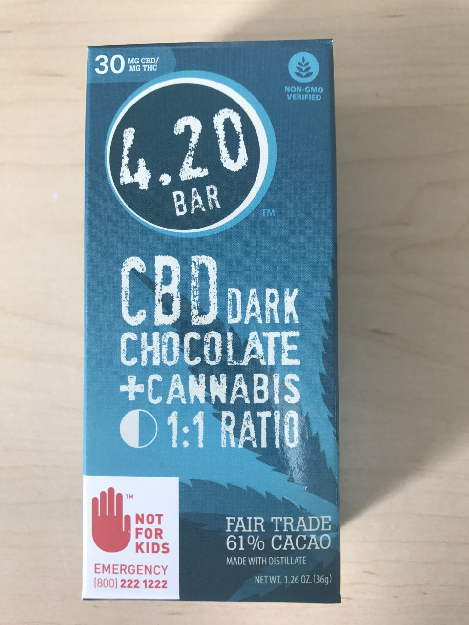 420 Bars Dark Chocolate CBD Bars 3 Pack