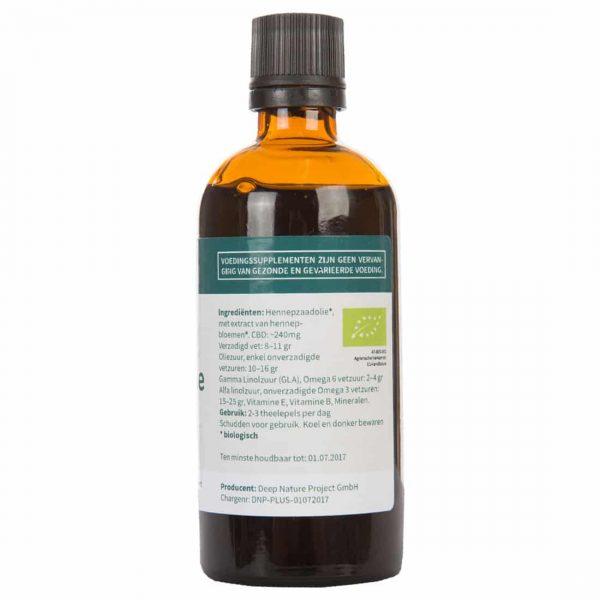 Hemp Seed Oil Plus CBD Organic