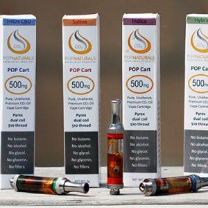 Buy POP Naturals Cannabis Oil Cartridges